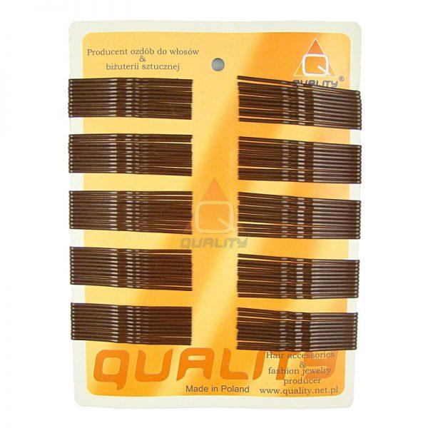 Wsuwki do włosów QUALITY długie kolor czarny 100szt.