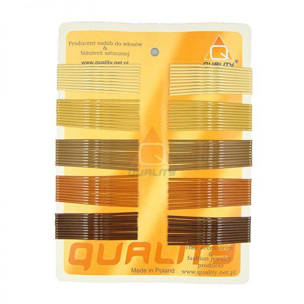 Wsuwki do włosów QUALITY długie mix brąz/beż 100szt.