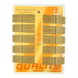 Wsuwki do włosów QUALITY długie kolor złoty 100szt.