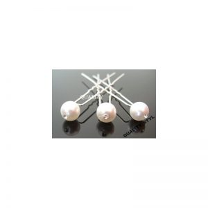 Szpilka biała perła