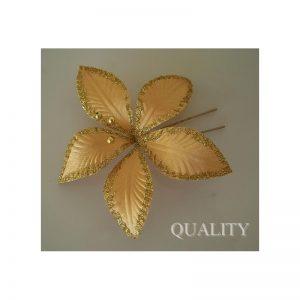 Szpilka złoty kwiat z koralikami