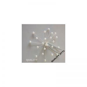 Szpilka biała perła 3D