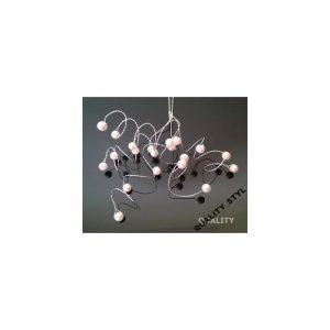 Szpilka srebrna gałązka z ecru perłami