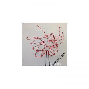 Szpilka czerwona gałązka sieczka z krysztłkami