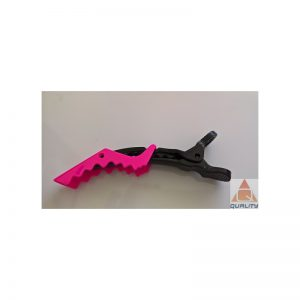 Klipsy fryzjerskie typu krokodyl różowe