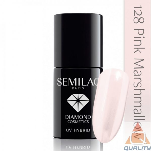 SEMILAC - Lakier Hybrydowy - 128 Pink Marshmallow