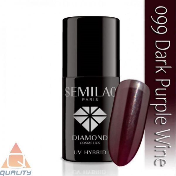 SEMILAC - lakier hybrydowy - 099 Dark Purple Wine