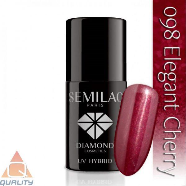 SEMILAC - lakier hybrydowy - 098 Elegant Cherry