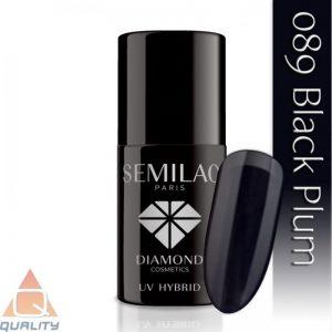 SEMILAC - lakier hybrydowy - 089 Black Plum