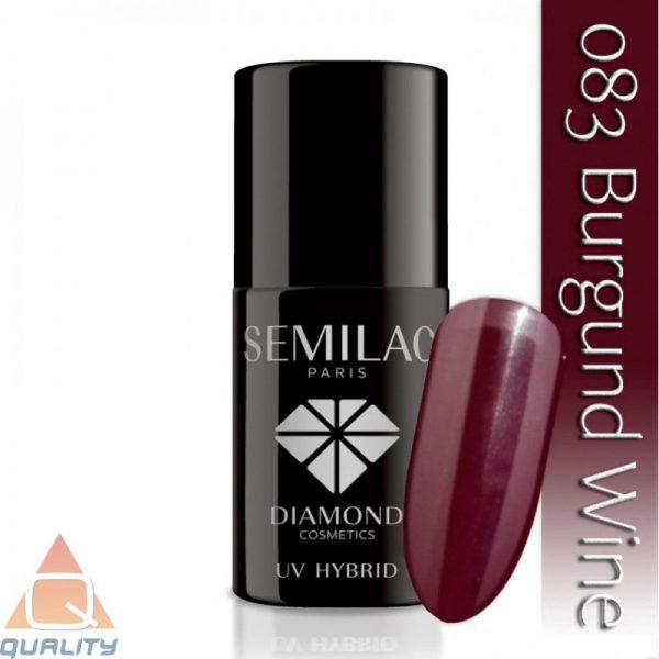 SEMILAC - lakier hybrydowy - 083 Burgund Wine