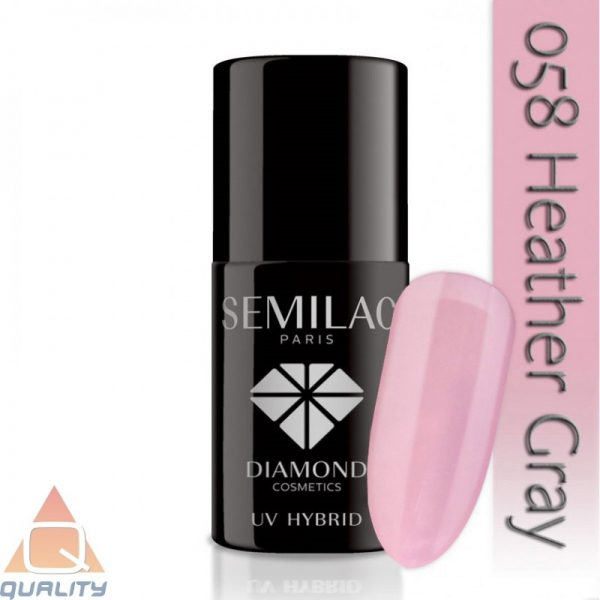 SEMILAC - lakier hybrydowy - 058 Heather Gray