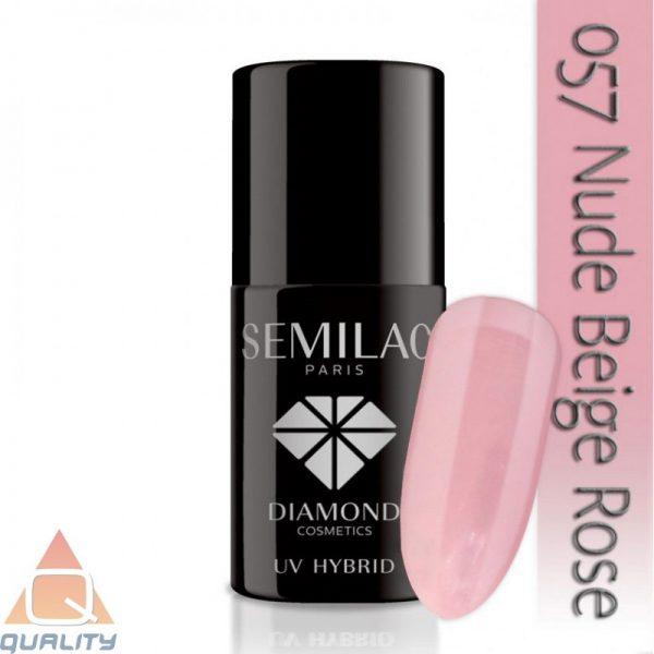 SEMILAC - lakier hybrydowy - 057 Nude Beige Rose