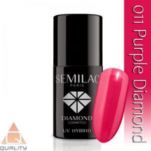 SEMILAC - lakier hybrydowy - 011 Purple Diamond