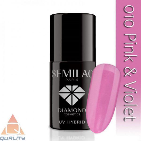 SEMILAC - lakier hybrydowy - 010 Pink & Violet