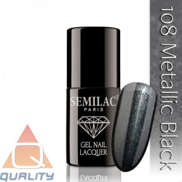 SEMILAC - lakier hybrydowy - 108 Metallic Black
