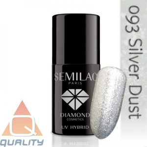 SEMILAC - lakier hybrydowy - 093 Silver Dust