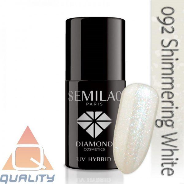 SEMILAC - lakier hybrydowy - 092 Shimmering White
