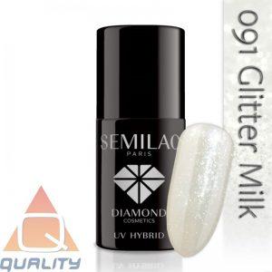 SEMILAC - lakier hybrydowy - 091 Glitter Milk
