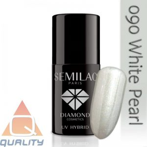 SEMILAC - lakier hybrydowy - 090 White Pearl