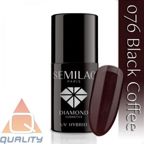 SEMILAC - lakier hybrydowy - 076 Black Coffee