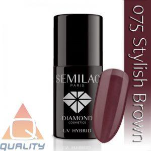 SEMILAC - lakier hybrydowy - 075 Stylish Brown