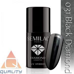 SEMILAC - lakier hybrydowy - 031 Black Diamond