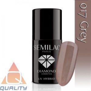 SEMILAC - lakier hybrydowy - 017 Grey