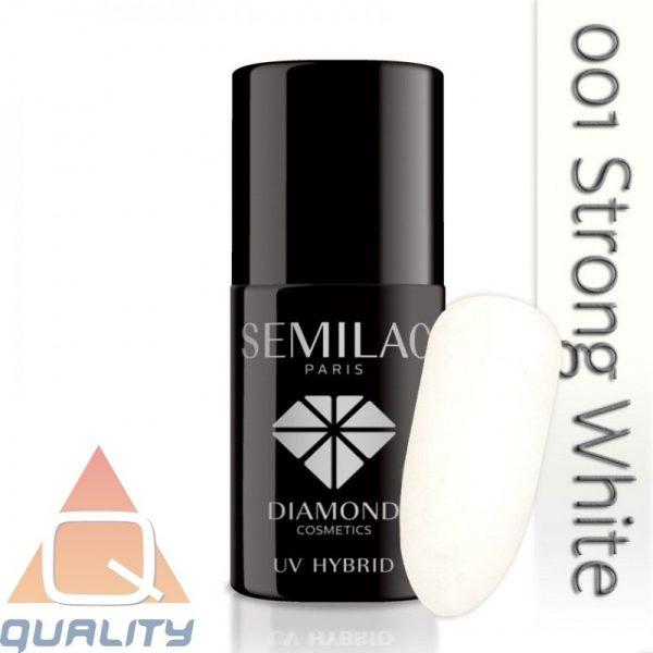 SEMILAC - lakier hybrydowy - 001 Strong White