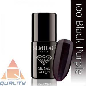 SEMILAC - lakier hybrydowy - 100 Black Purple