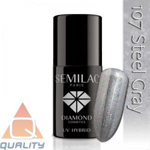SEMILAC - lakier hybrydowy - 107 Steel Gray