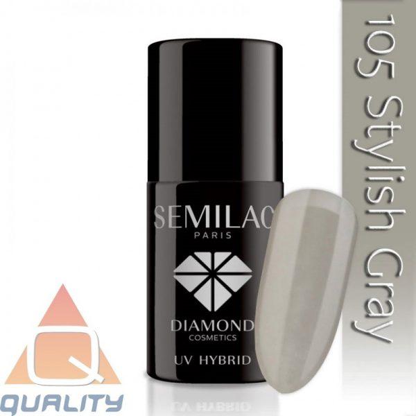 SEMILAC - lakier hybrydowy - 105 Stylish Gray
