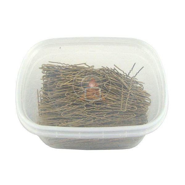 Szpilki, fryzjerski do koków, harnakle – 4,5cm – pudełko 0,5kg - ZŁOTY