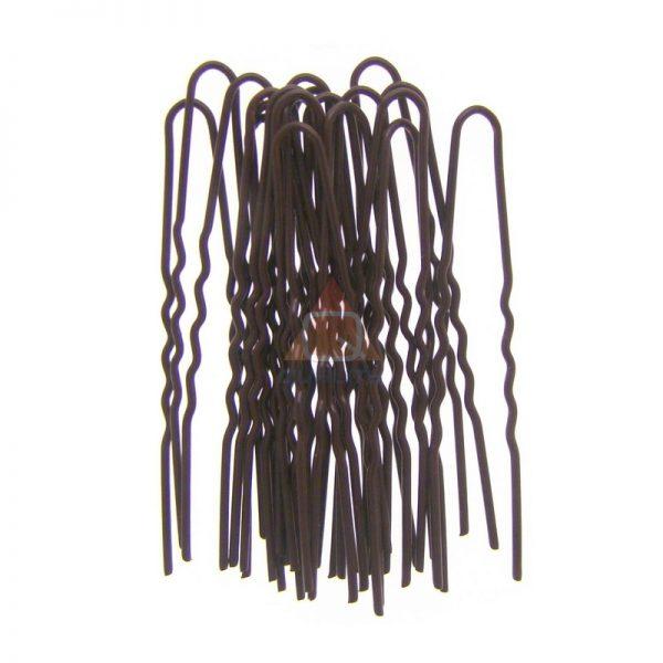Szpilki fryzjerki, harnakle, 20szt - 4,5cm brązowe