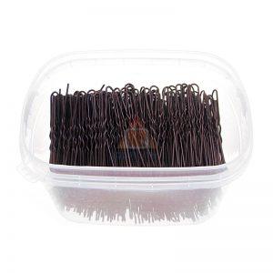 Szpilki, fryzjerski do koków, harnakle – 6,5cm – pudełko 0,5kg – BRĄZOWE