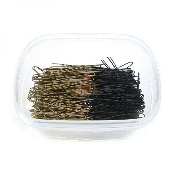Szpilki, fryzjerski do koków, harnakle – 4,5cm. – ZŁOTO-CZARNE