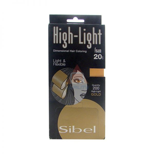 SIBEL HIGH-LIGHT FOAM MIXED papierki do pasemek 9,5cm x 20cm - 200szt