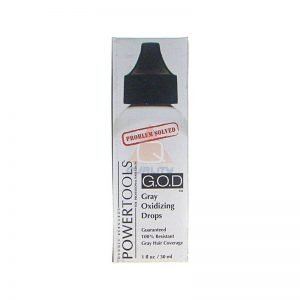 G.O.D. POWERTOOLS - Gray Oxidizing Drops - krople wspomagające pokrycie siwych włosów 30ml