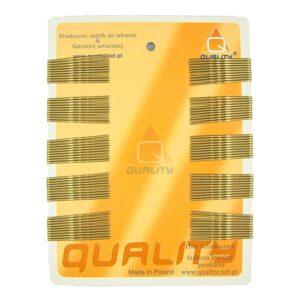 Wsuwki do włosów QUALITY krótkie kolor złoty 100szt.