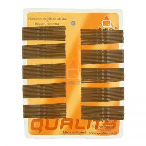 Wsuwki do włosów QUALITY długie kolor jasny brąz 100szt.