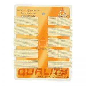 Wsuwki do włosów QUALITY długie kolor ecru 100szt.