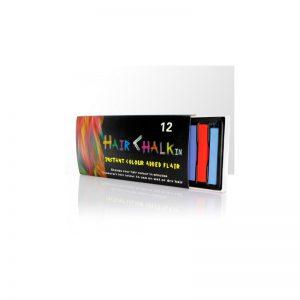Kolorowe kredy do włosów - 12 szt