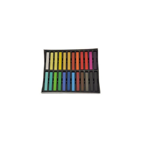 Kolorowe kredy do włosów - 24szt
