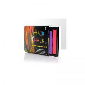Kolorowe kredy do włosów - 6 kolorów