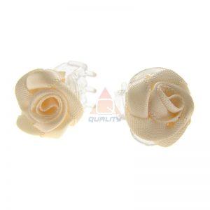 Spinki różyczki atłasowe - 100szt ozdoby do włosów