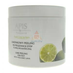 APIS Fresh Lime Peeling do stóp z lawą wulkaniczną
