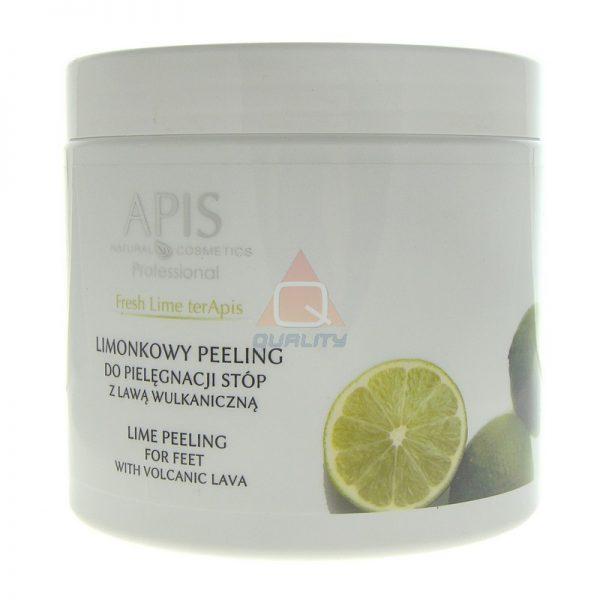 APIS Fresh Lime Peeling do stóp z lawą wulkaniczną