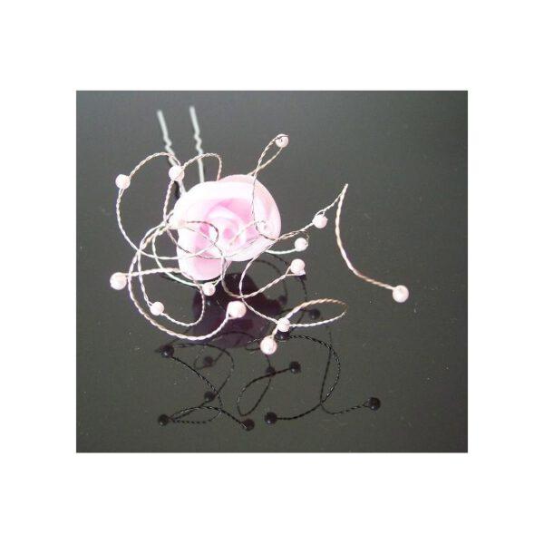 Róża, ozdoba do włosów, szpilka