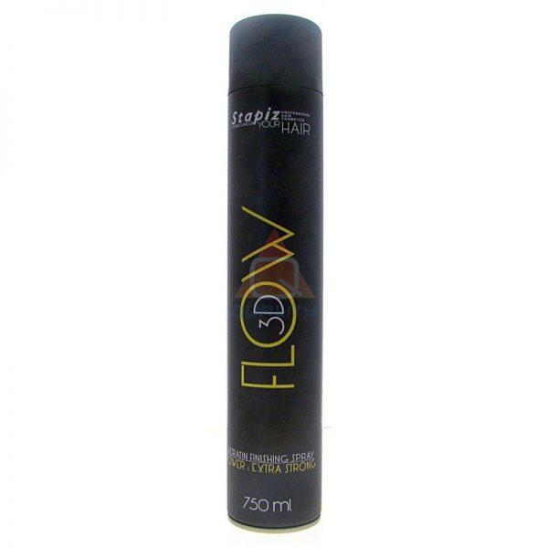 STAPIZ Flow 3D Keratin Finishing Spray - lakier do włosów silnie utrwalający - 750ml
