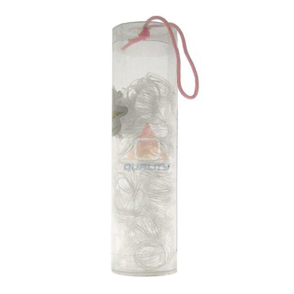 Gumki recepturki do warkoczyków - 40szt - bezbarwne